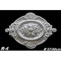1 Rosette Dekorrosette Stuck Deckenrosette Decke Dekor Polystyrol Ø57/40cm R-4