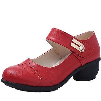 donna in pelle scamosciata con tacco alto sandali da danza latina Salsa Red