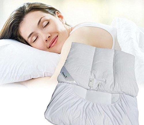 Exklusives Wärme-Unterbett Heizdecke - beheiztes Unterbett aus Mikrofaser 95 x 195 cm Wärmebett - absolut sicher!