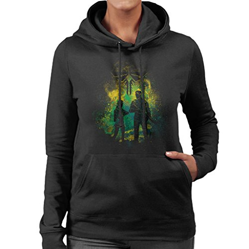 The Last Of Us Joel And Ellie Outline Women's Hooded (Clicker Last Us Of The)