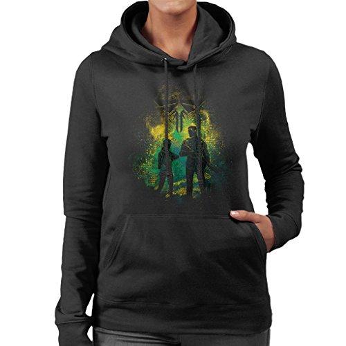 The Last Of Us Joel And Ellie Outline Women's Hooded Sweatshirt (Clicker Last The Us Of)