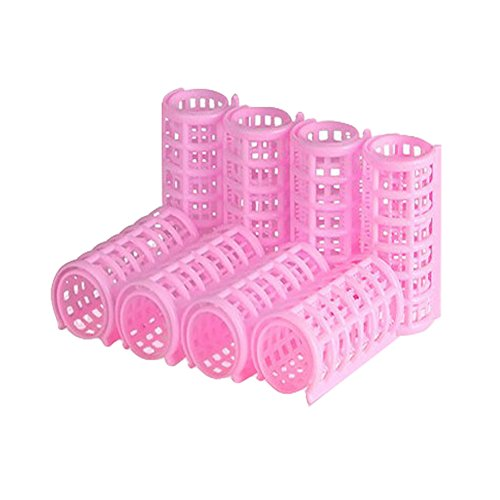 8 PC Plastikverfassungs DIY Hair Styling Roller Lockenwickler Clips (Pink)