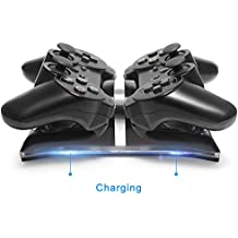 Dual Charging Dock charger station with LED light Indicator Compatible with PlayStation PS3 / PS3 Slim Controller
