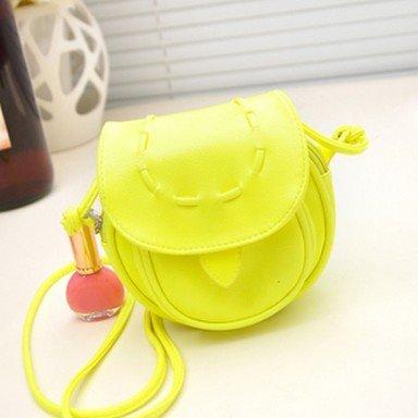 Achievess obbiettivo TM) 13 colori motivo mini-Borsa in pelle con tracolla regolabile, dicono le donne-Borsa piccola per telefono, Borsa Tote bag, giallo (Giallo) - Ae-UK-1521080449-Hao-handbag-Y Verde fluorescente