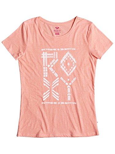 Roxy Basic Crew Tribes, T-Shirt Donna Peach Amber