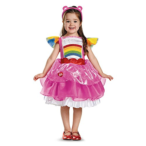 rchen Cheer Bär Regenbogen Kinder Mädchen Fasching Halloween Karneval Kleid 92 (Care Bears Halloween)