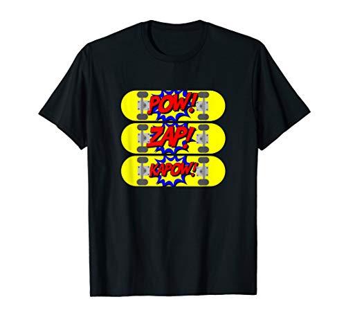 Skateboarder T-Shirt Pop Art Comic Skateboarden Skater Shirt