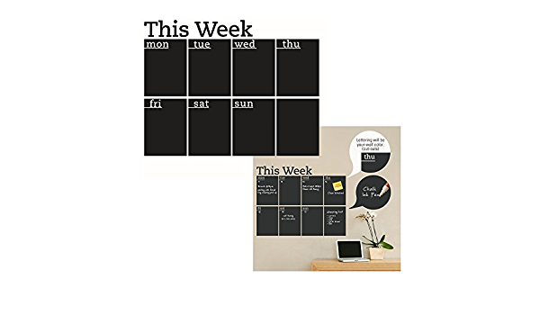 Bageek Kreidetafel Kalender Kreative Umweltfreundlich Abnehmbare Aufkleber L/öschbar Planer Tafelaufkleber Men/ütafel