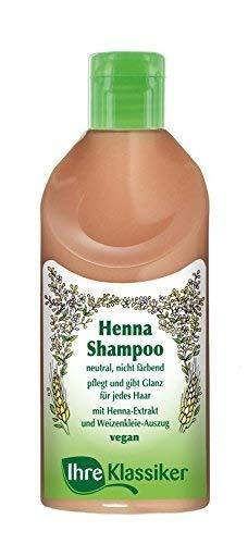 Kräutershampoo Trockenes Haar (IHRE KLASSIKER Naturkosmetik Henna Shampoo, Intensiv-Pflege für sprödes, trockenes Haar, Feuchtigkeit & Glanz,  200 ml)