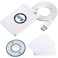 ACS ACR122U USB 2.0 Blanco lector de tarjeta inteligente - Lector de tarjetas de memoria (USB 2.0, 65 x 12,8 x 98 mm, 70 g, Windows 2000,Windows 2000 Professional,Windows 7 Home Basic,Windows 7 Home Basic x64,Windows 7..., Android, ISO 14443, CE, FCC, KC, VCCI, PC/SC, CCID, USB)