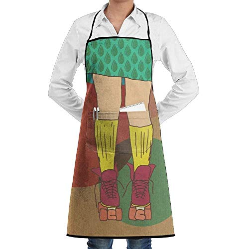 Sangeigt grembiule da cucina, roller skate aprons for women/men personalized grill funny sewing chef apron