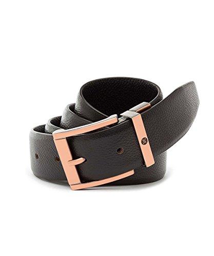 Viari Men's Genuine Leather Belt (Wall Street) (BROWN, 36)