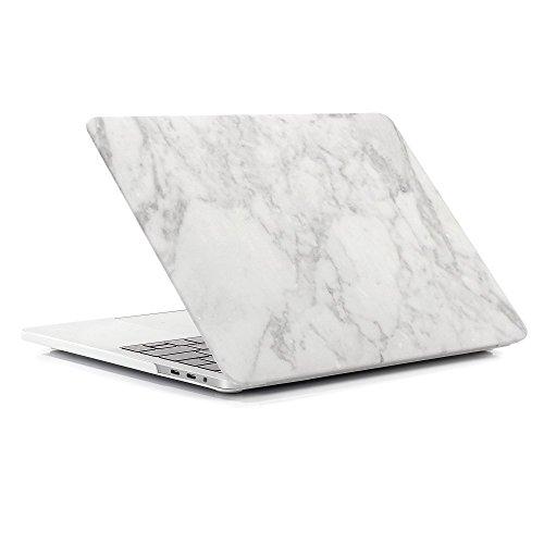 """FOGEEK Funda dura con acabado mate patrón de mármol [Para Macbook Air 13""""/13.3"""" Pulgadas: A1369 / A1466] - Blanco y Gris"""