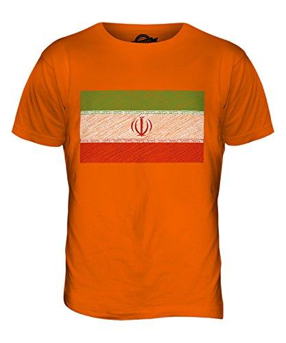 CandyMix Iran Kritzelte Flagge Herren T Shirt Orange