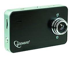 Gembird DCAM-005 Dashcam Auto-Kamera mit Mikrofon, Weitwinkelobjektiv, Metallgehäuse schwarz