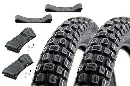 SET: 2x Enduro Reifen VRM 186-2,75-16 - 2x Schlauch - 2x Felgenband für Simson
