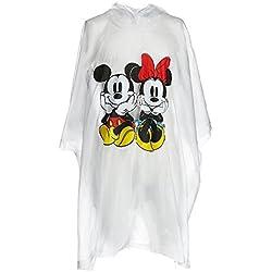 Disney Poncho Transparente De Lluvia Mickey Y Minnie Mouse Para Niños