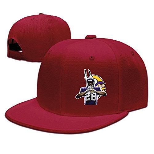 Laufen Zeit anzeigen Zurück # 28AP Baseball Hat Verstellbare Flach Bill Cap schwarz, Herren, rot (Verkauf Nike Herren Schuhe)