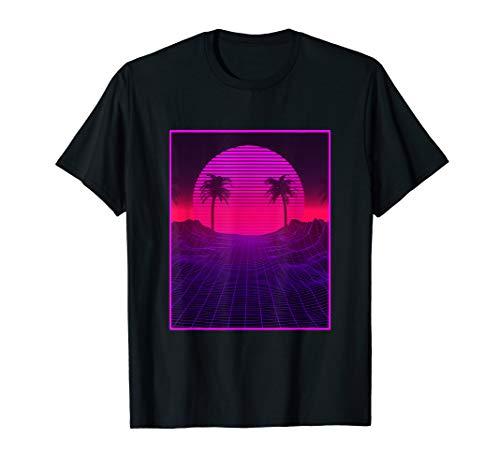 Vaporwave Paradise Ästhetische Retrowave Palme T-Shirt