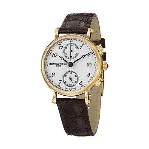 Constant donna-Orologio da polso cronografo Frederique al cuoio FC-291A2R5