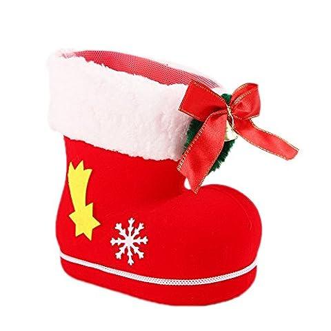 Demarkt Weihnachtsstrümpfe Christbaumschmuck Weihnachten Geschenktaschen Weihnachten Kinder Süßigkeiten Taschen Rot (Süßigkeiten, Christbaumschmuck)