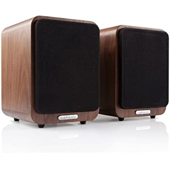 speakers in amazon. ruark audio mr1 active bluetooth speakers (walnut) in amazon y