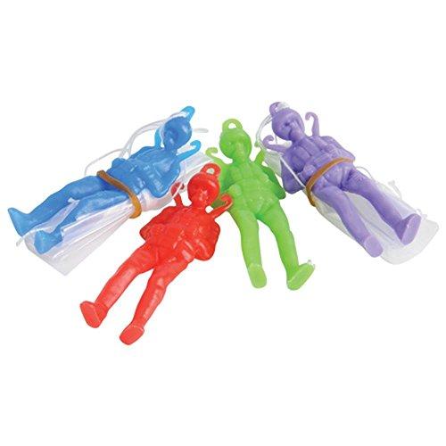 Dozen Assorted Color Toy Paratrooper Parachute Men-5,7cm