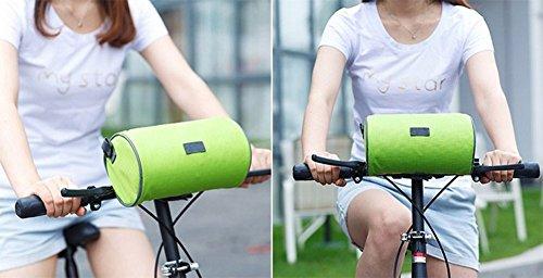 LAAT Wasserdichte Fahrrad Lenkstange Beutel Fahrrad Vordere Beutel Touch Screen der vorderen Beutel Telefon Halter für Mountainbike Fahrrad Zusätze 22 * 12 * 12CM Grün