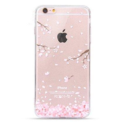 Coque iPhone 6, iPhone 6S, OFFLY Transparente Souple Silicone TPU étui d' Protection, Cute et Motif Fantaisie pour Apple iPhone 6 / 6S - Fleurs de Cerisier