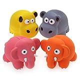 chiwava 48,4cm Quietschen Latex Puppy Spielzeug Lovely Elefant Kuh Sets Pet Interaktives Spielen für kleine Hunde sortiert Farbe