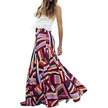YUAFOAE Vestidos Largos De Mujer Elegantes,Color de Hechizo Moda Casuales Fiesta Falda