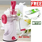 Redfam Best Quality Royal Fruits And Vegetables Juicers And Get Free 6 In 1 Slicer Free(Colour May Vary)