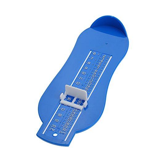 KKmoon Kinder Fußmeßgerät Schuhgröße Lineal Baby Fuß Maß Lineal, Jungen Mädchen Klein Kinder Fuß Länge Breite Messer Blau