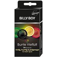 Preisvergleich für Billy Boy Bunte Vielfalt Kondome, Sortiment aus farbigen, perlgenoppten, farbig-aromatisierten und extra feuchten...