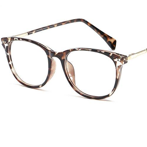 LANOMI Retro Nerdbrille Brillenfassung Hornbrille Runde Brille Ohne Stärke mit Brillenetui...