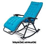 LIYANJIN Lounge-Sessel Schaukelstuhl,schaukelstuhl Relaxstuhl Wadenstütze Belastbarkeit 250kg,Blue