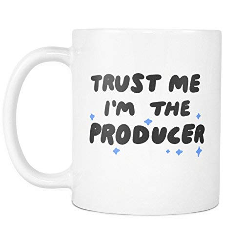 LUOBOGAN Trust Me I'm The Producer 11oz Coffee Mug - Funny Movie, News, Theatre, Musical or TV Show Producer Hollywood Gift Cup