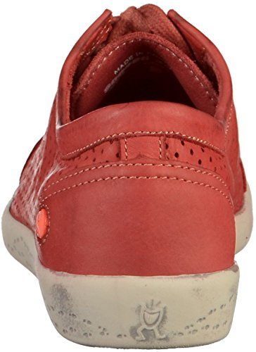Softinos Damen Ica388sof Washed Sneaker Rot (rosso)