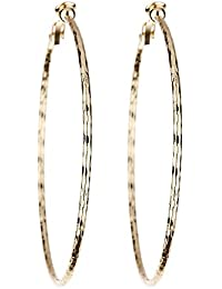 Clip On Earrings - Gold Plated Chandelier With Black Tassel Chain Fringe - Becca by Bello London