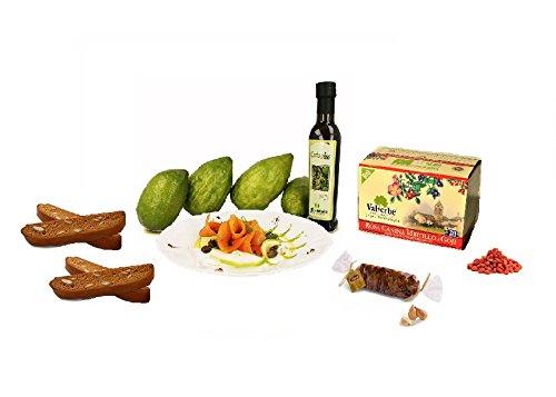 Idee regalo originali prodotti tipici calabresi olio extravergine di oliva al cedro dolci al miele treccia di fichi e tisana bio goji