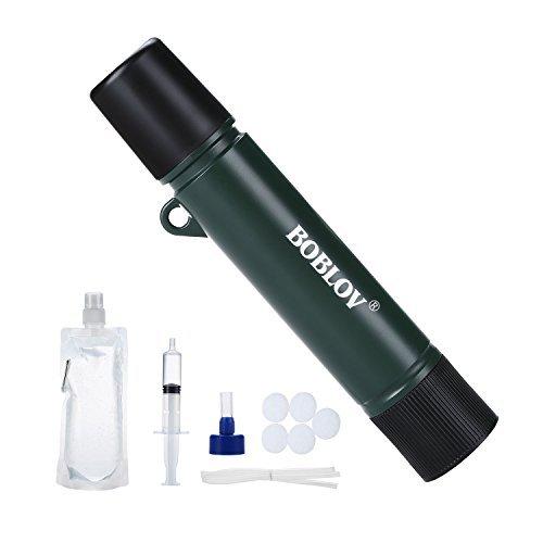 BOBLOV Purificateur d'eau Portable Mini Filtre à...