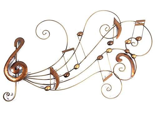 Nouveau tableau contemporain en métal ou sculpture en métal - Bronze, musique, volute, tourbillon