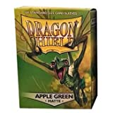 Dragon Shield Standard Matte Apple Green 100 Protective Sleeves by Dragon Shield