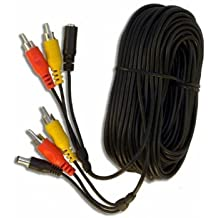 3 way de Audio y vídeo cctv cámara Cable con conectores RCA, 5 m 10 m 20 m 30 m 40 m 50 m PHONO, 2.1 mm Toma de alimentación, cable AV