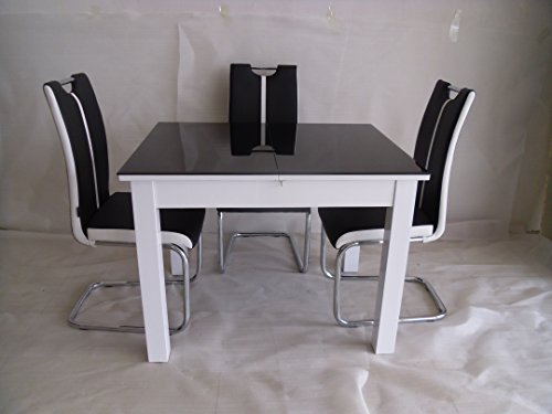 Modernique 174 Primo Extending Dining Table And 4 Chairs