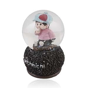 Petite Fille Monchhichi neige Boule de cristal avec lumière LED (4 Styles, Livraison aléatoire)