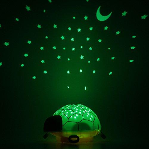 ANSMANN Sternenlicht Projektor - Schildkröte Nachtlicht mit Musik & Sternenhimmel Projektor ideal als Einschlafhilfe für Baby & Kinder - LED Schlummerlicht mit Farbwechsel als Kinderzimmer Deko - Sternenlicht, Sternenhimmel, Schlummerlicht, Schildkröte, Projektor, Nachtlicht, Musik, mit, LED, Kinderzimmer, Kinder, ideal, für, Farbwechsel, einschlafhilfen für kinder, einschlafhilfe, Deko, Baby, ANSMANN, Als