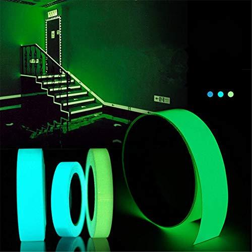 Preisvergleich Produktbild WeeDee 5mx15mm Lichtband Selbstklebende Grün Blau Glühend In The Dark Sicherheitsstufe Wohnkultur (Grün)