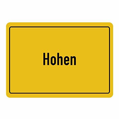 Mousepad Ortsschild Hohen Neuendorf schwarz (Frauen T-shirt Hohe Orte,)