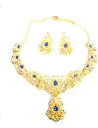 Kpax Fashions Golden Color Alloy Necklace Set For Women,KPX05
